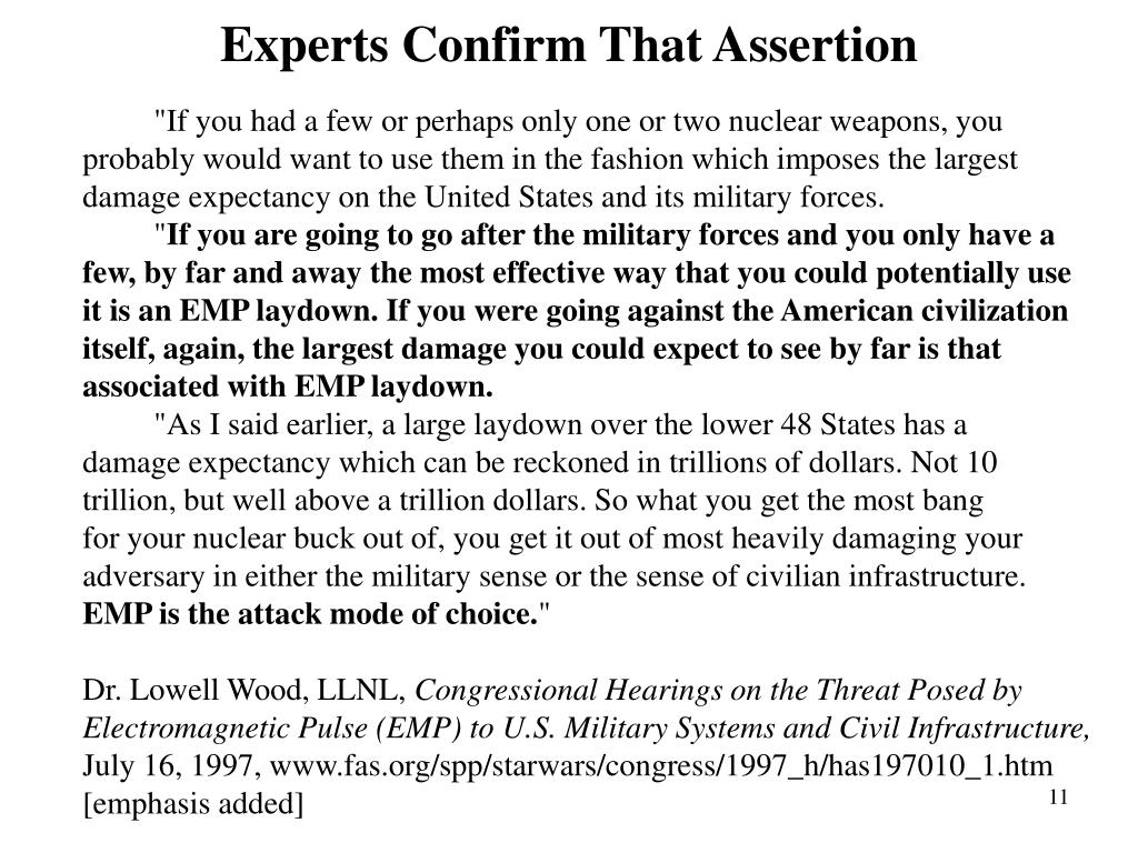 Experts Confirm That Assertion