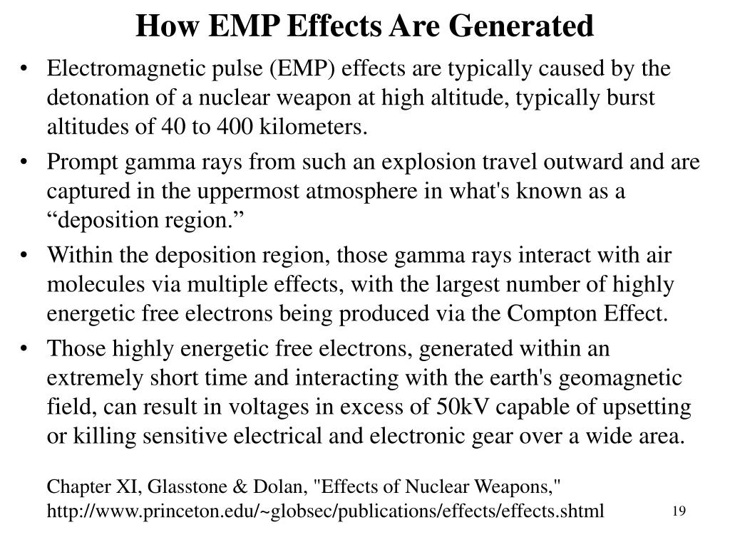 How EMP Effects Are Generated