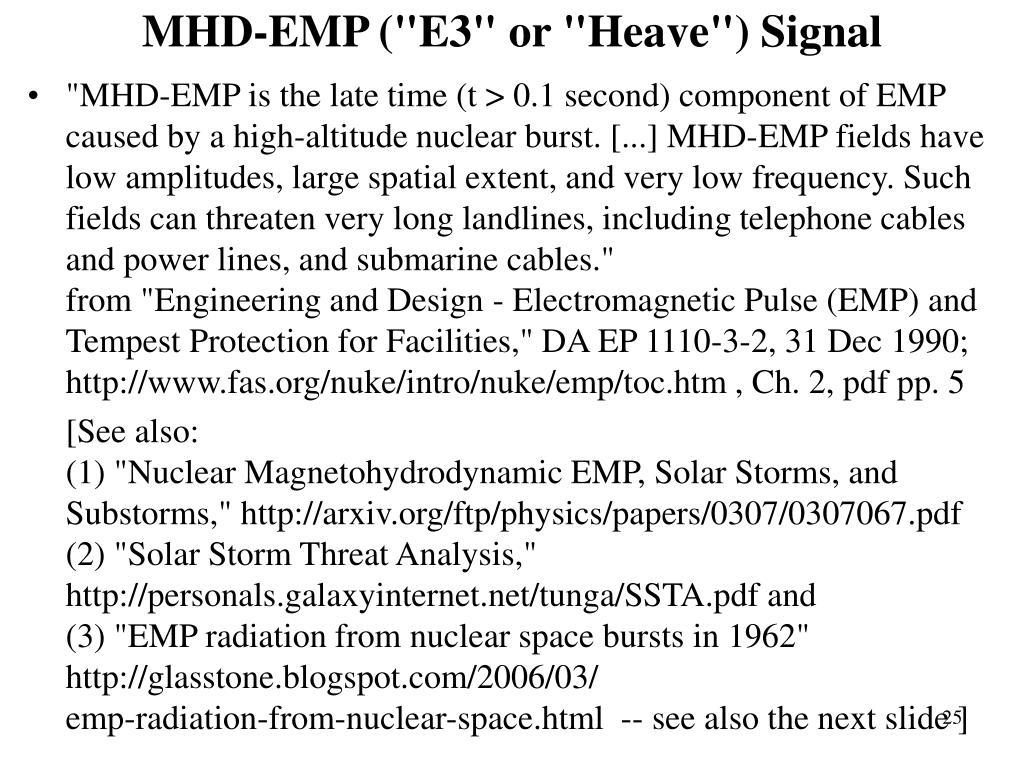 """MHD-EMP (""""E3"""" or """"Heave"""") Signal"""