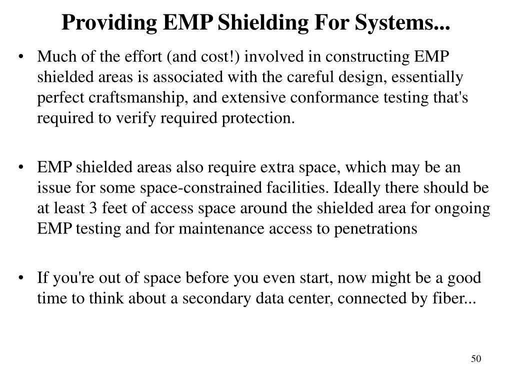 Providing EMP Shielding For Systems...