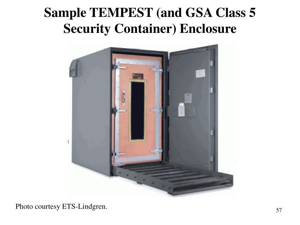 Sample TEMPEST (and GSA Class 5