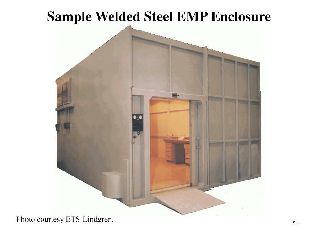 Sample Welded Steel EMP Enclosure