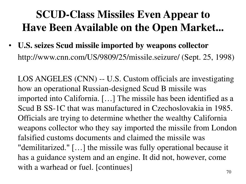 SCUD-Class Missiles Even Appear to