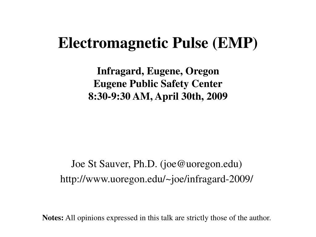 Electromagnetic Pulse (EMP)