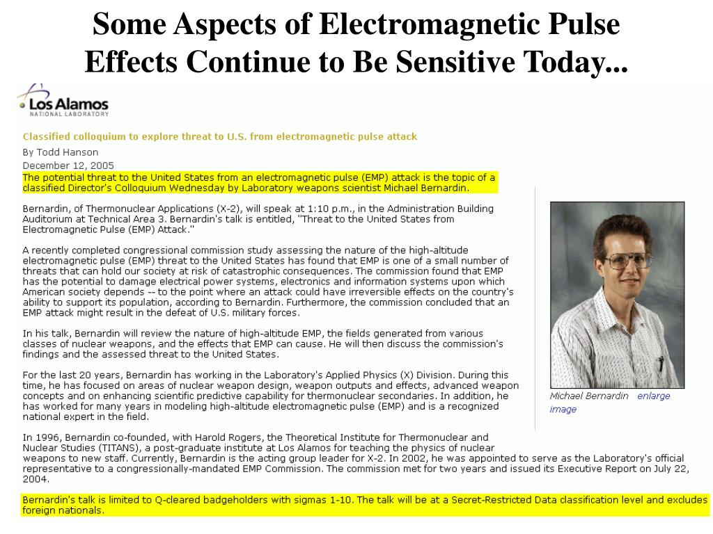 high altitude electromagnetic pulse attack on