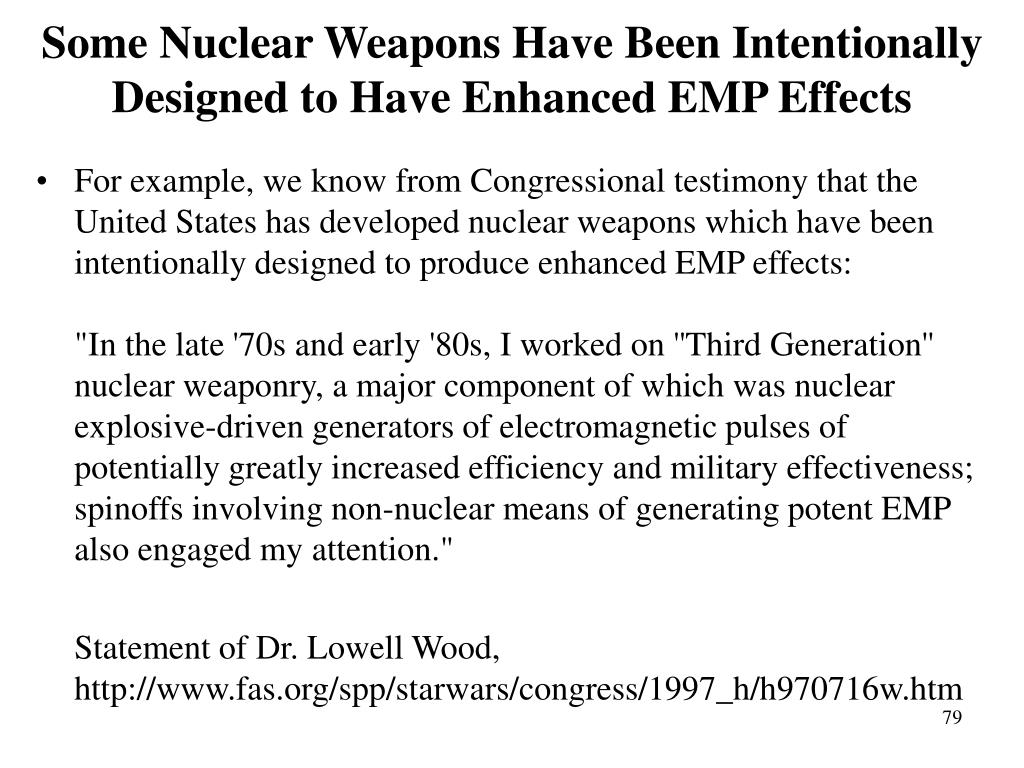 Some Nuclear Weapons Have Been Intentionally