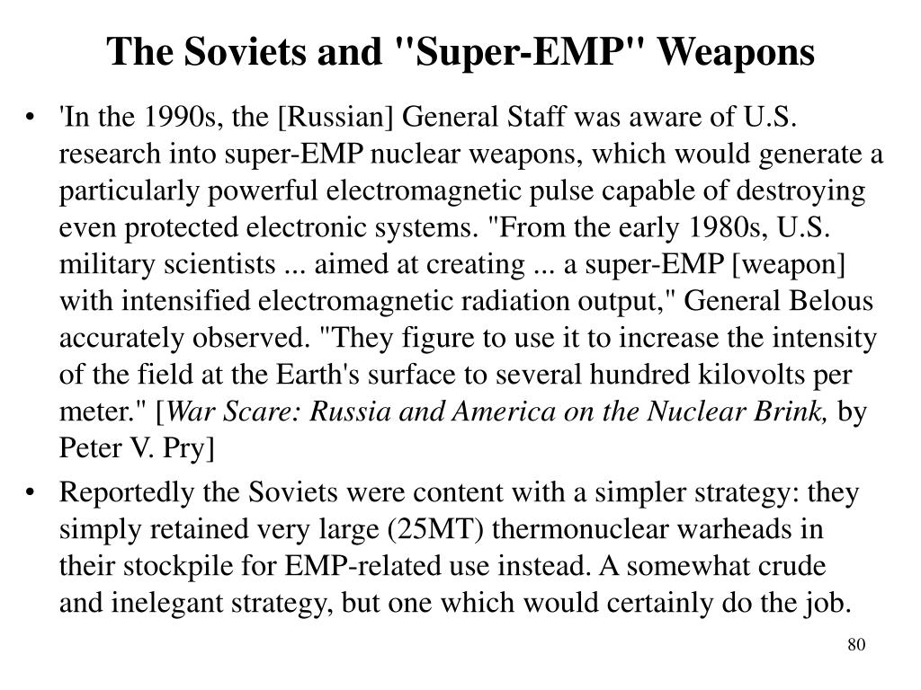 """The Soviets and """"Super-EMP"""" Weapons"""