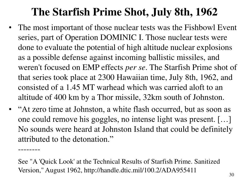 The Starfish Prime Shot, July 8th, 1962