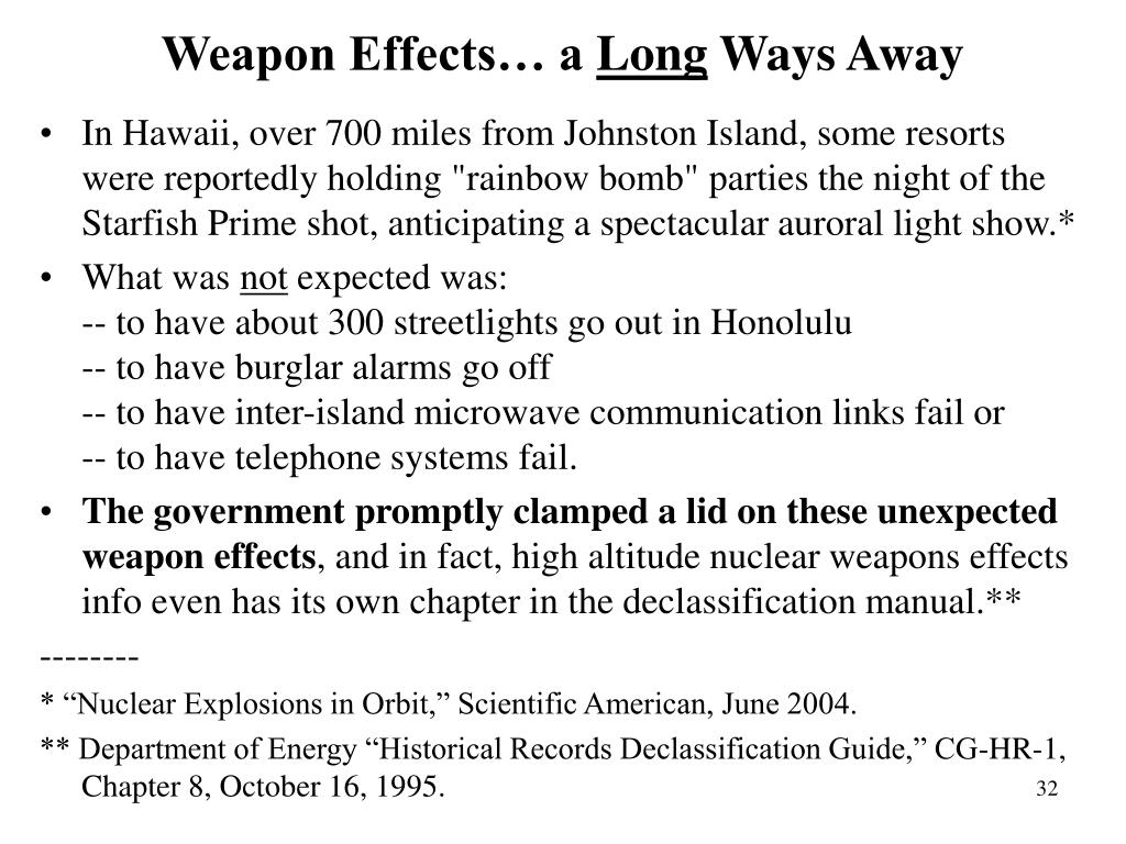 Weapon Effects… a