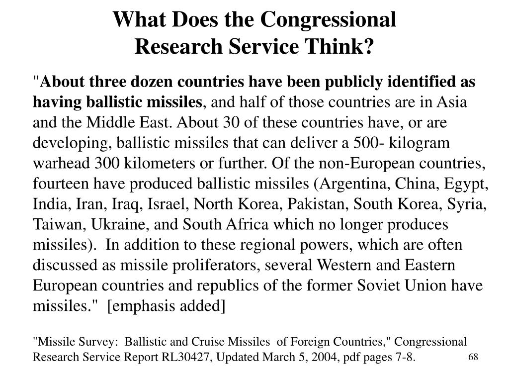 What Does the Congressional