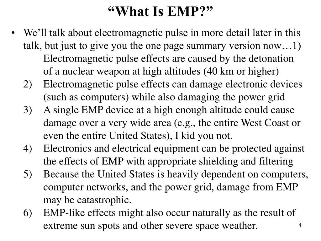 """""""What Is EMP?"""""""