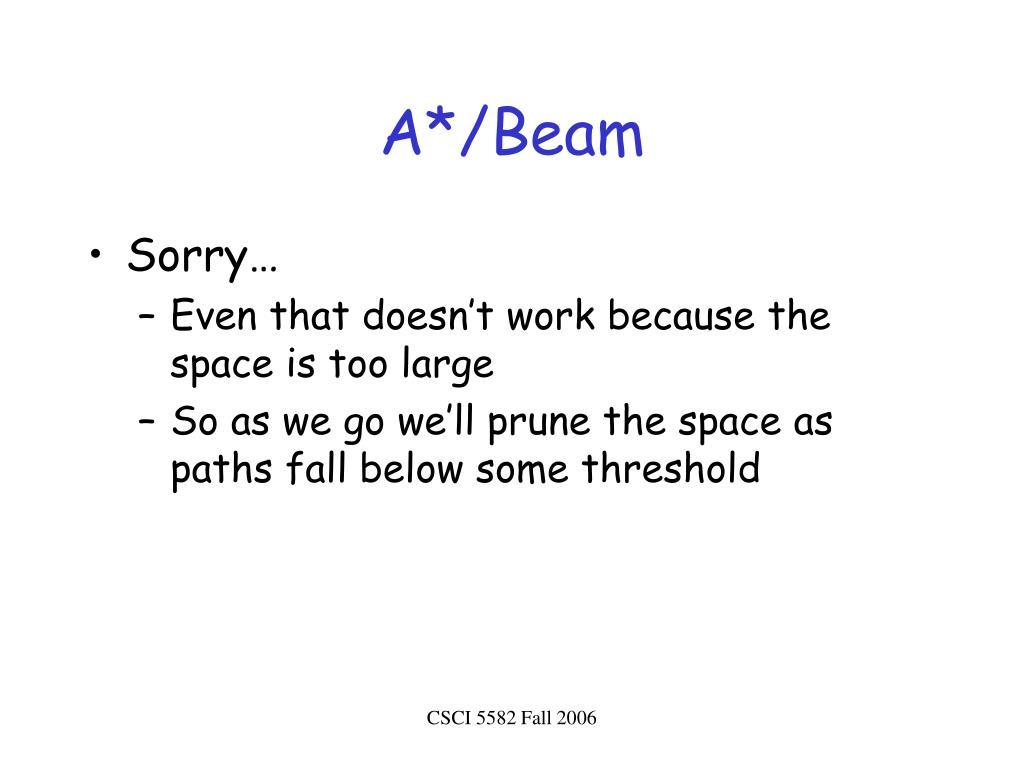 A*/Beam
