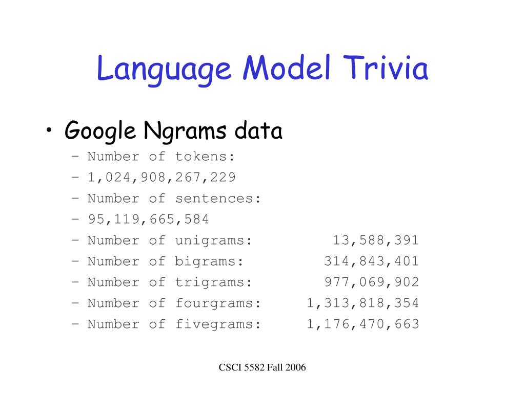 Language Model Trivia