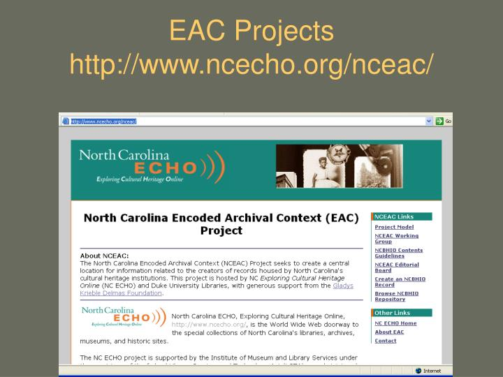 EAC Projects