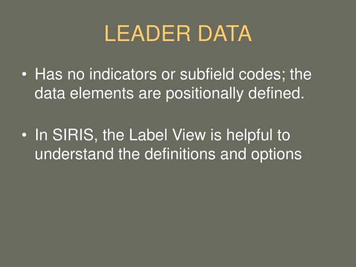 LEADER DATA
