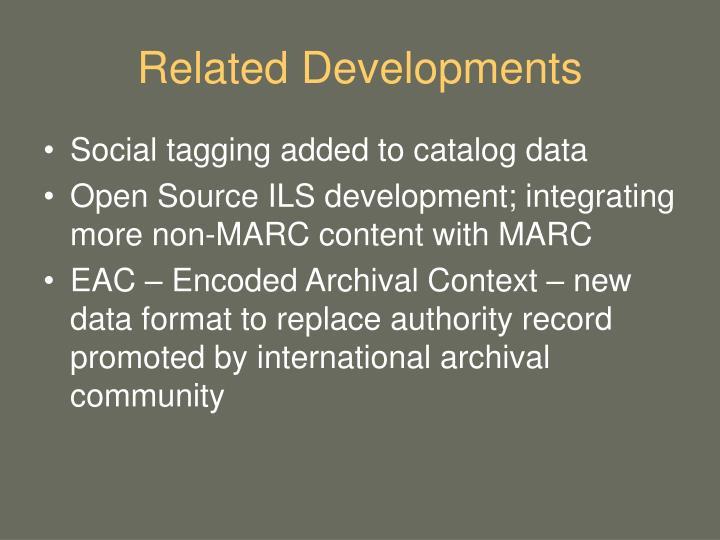 Related Developments
