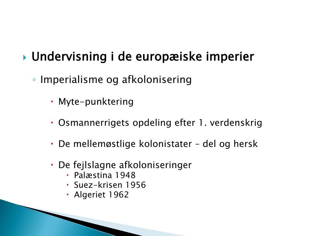Undervisning i de europæiske imperier