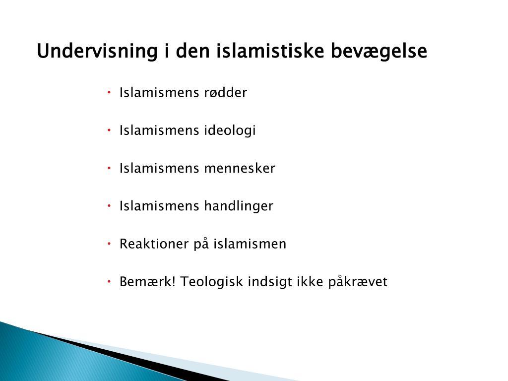Undervisning i den islamistiske bevægelse