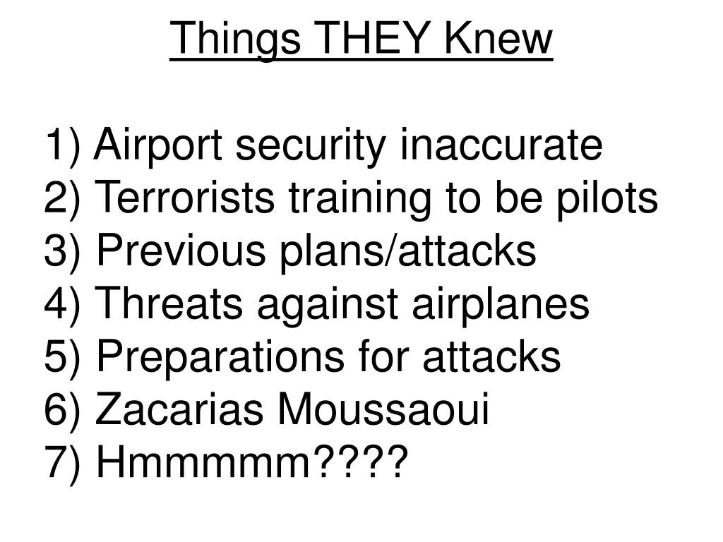 Things THEY Knew