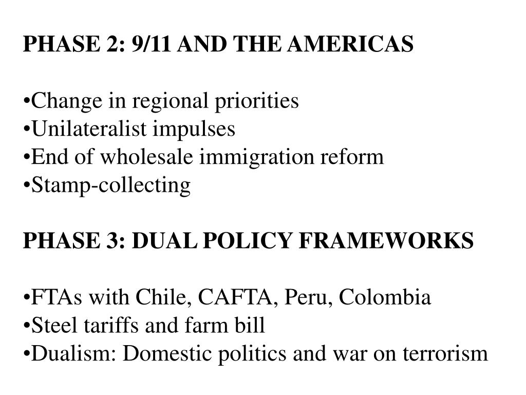 PHASE 2: 9/11 AND THE AMERICAS