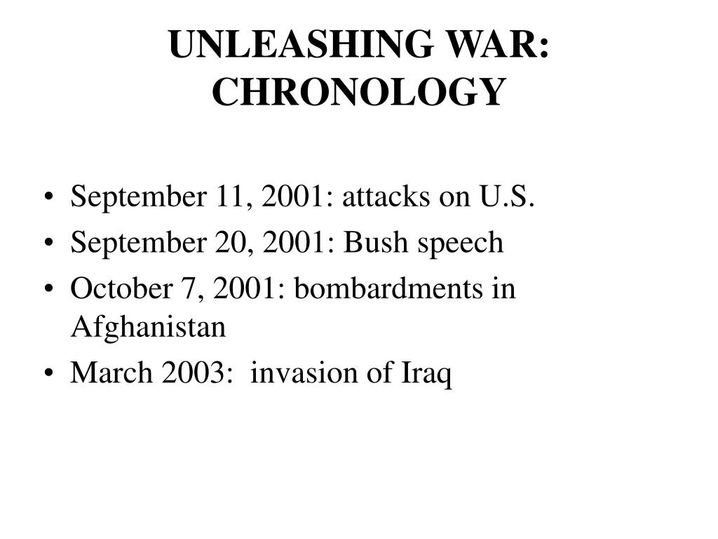 UNLEASHING WAR: