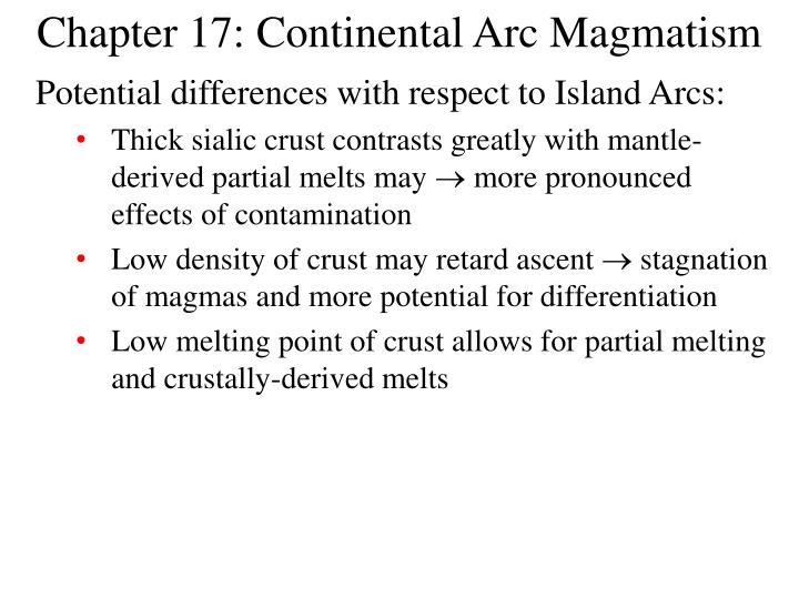 chapter 17 continental arc magmatism n.