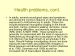 health problems cont