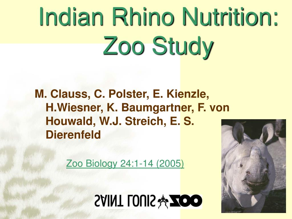 Indian Rhino Nutrition:
