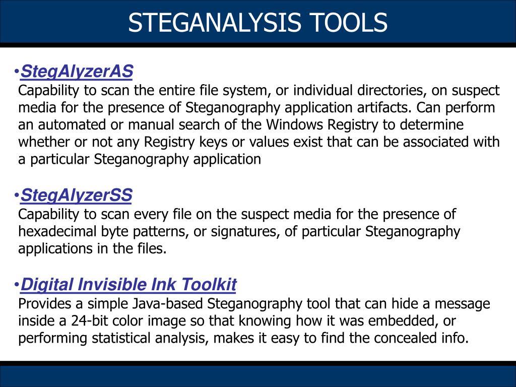 STEGANALYSIS TOOLS