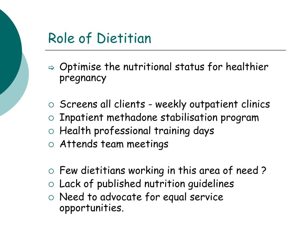Role of Dietitian