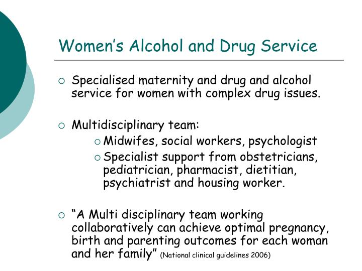 Women s alcohol and drug service