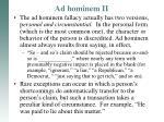 ad hominem ii