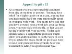 appeal to pity ii1