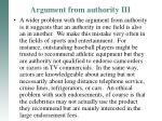 argument from authority iii1
