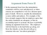 argument from force ii1