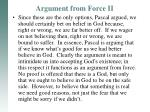 argument from force ii3
