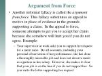 argument from force