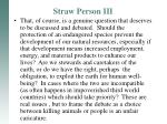 straw person iii