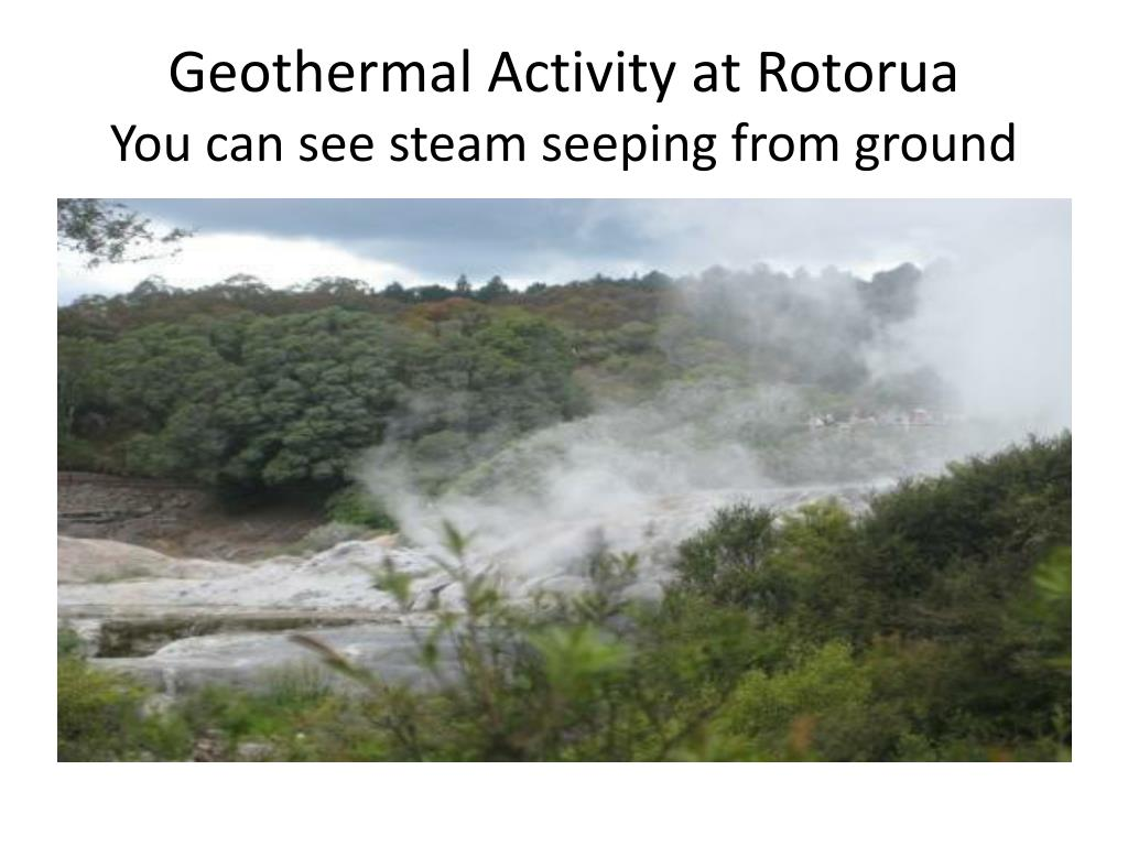 Geothermal Activity at