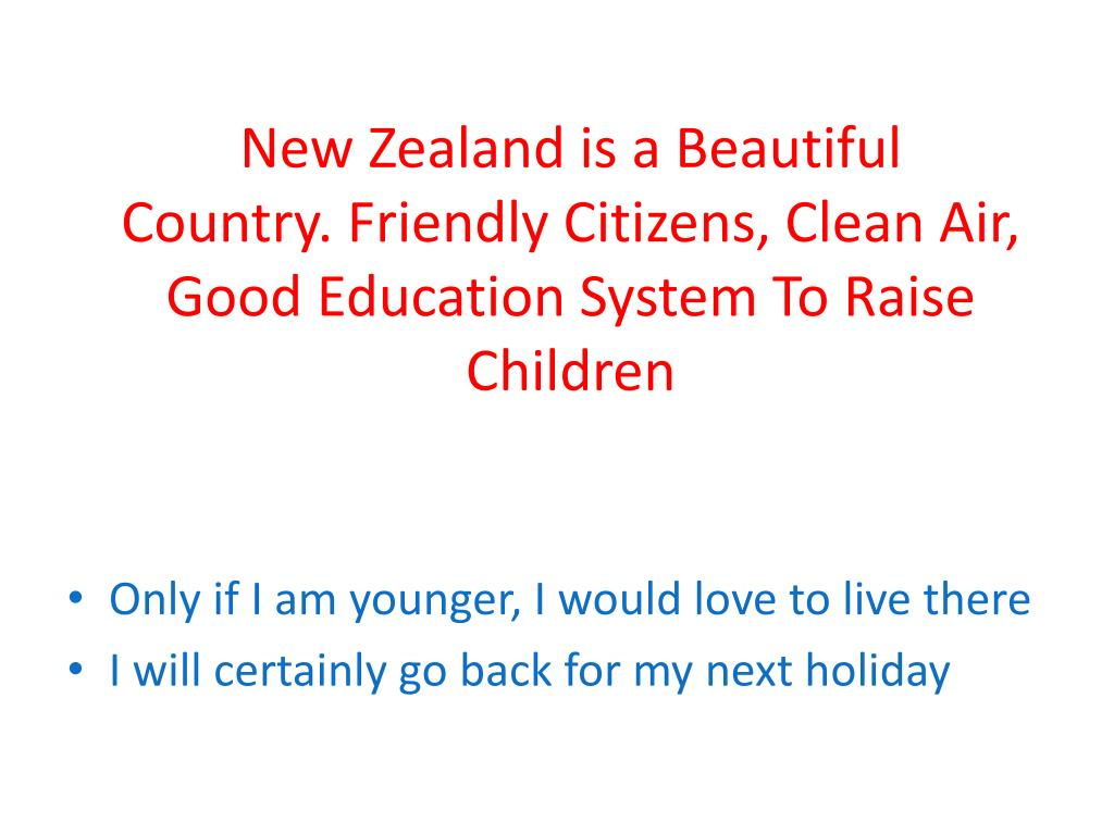 New Zealand is a Beautiful