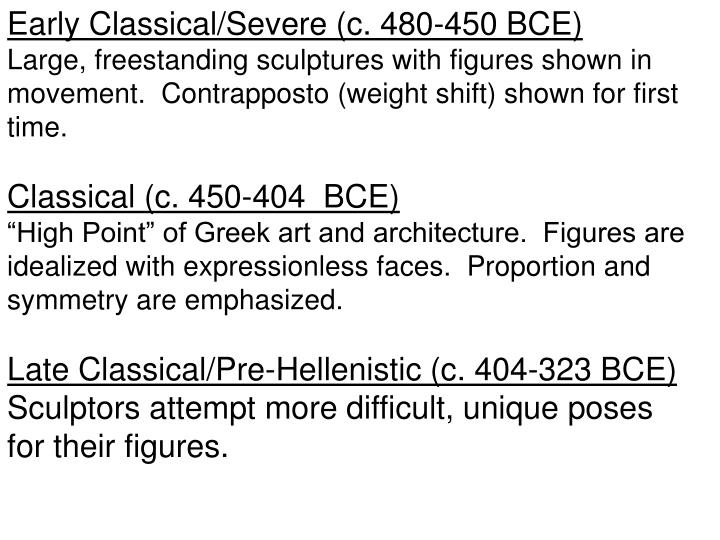 Early Classical/Severe (c. 480-450 BCE)