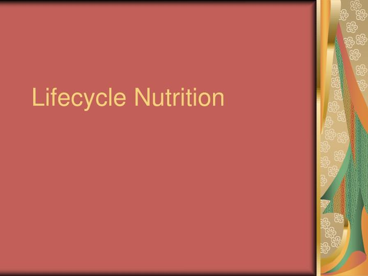 lifecycle nutrition n.