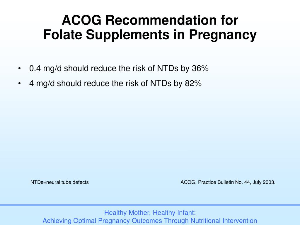 ACOG Recommendation for