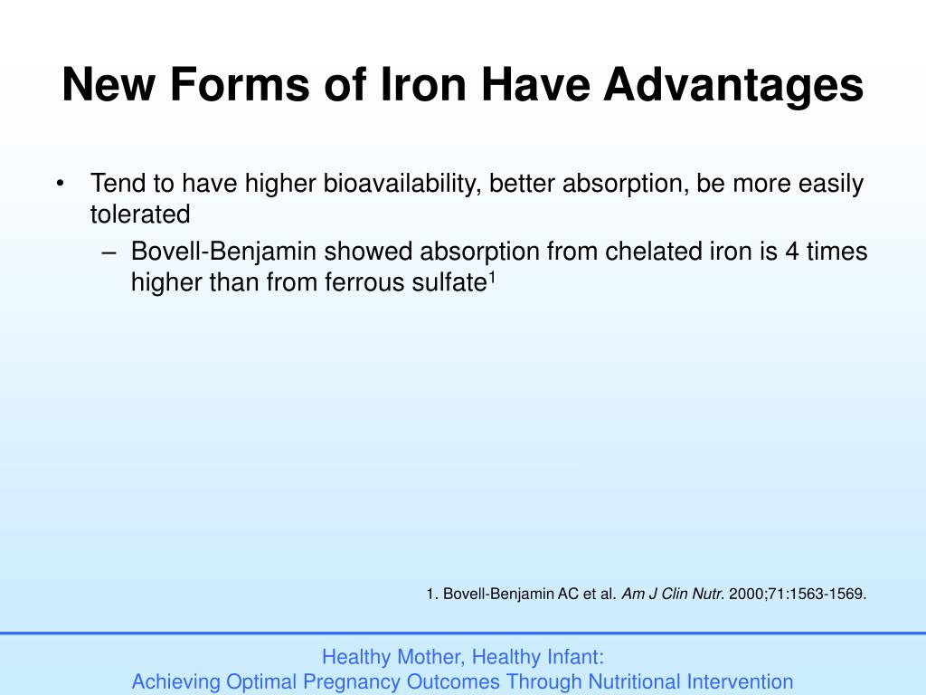 New Forms of Iron Have Advantages