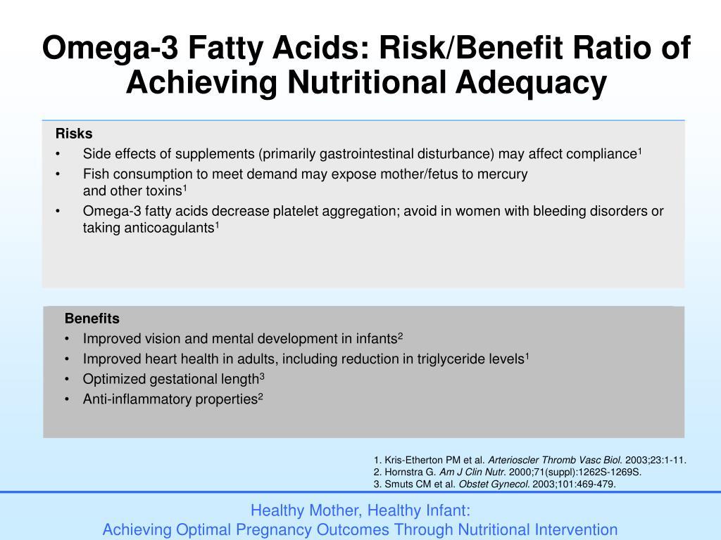 Omega-3 Fatty Acids: Risk/Benefit Ratio of
