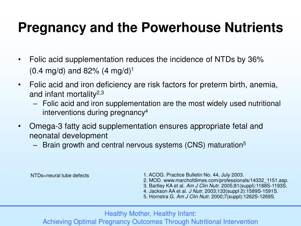 Pregnancy and the Powerhouse Nutrients