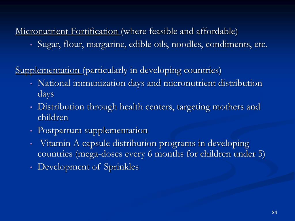Micronutrient Fortification