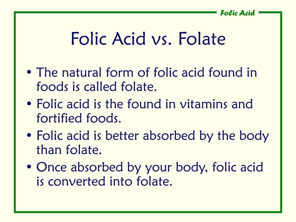 Folic Acid vs. Folate