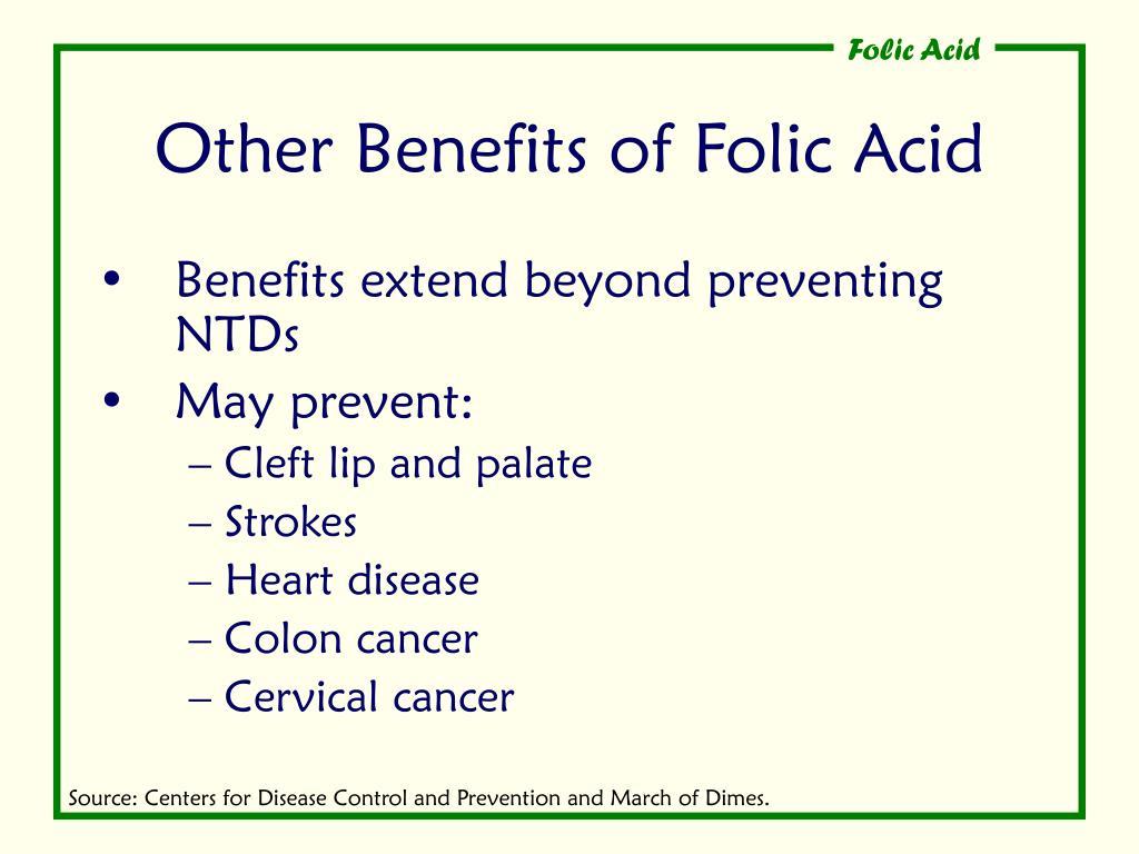 Other Benefits of Folic Acid