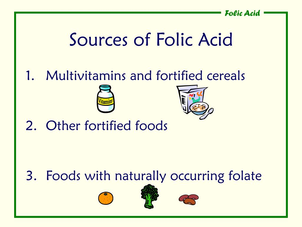 Sources of Folic Acid